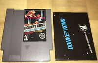DONKEY KONG NES Early 5-Screw CART Original MANUAL, SLEEVE!  Nintendo 1985 NICE!