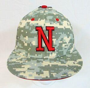 Adidas NCAA Nebraska Cornhuskers Digital Camo Fitted Mesh Hat 7 RARE 124705411