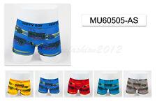 5pc Size 7 6-8 years Comfort Cotton Boys Boxer Briefs Motor Kids Underwear