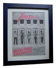X-RAY SPEX+Germ Free Adolescents+POSTER+AD+ORIGINAL 1978+FRAMED+FAST GLOBAL SHIP