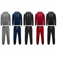 NEW Men Fleece Sweatsuit BIG & TALL Track Suit Jogger Jacket Hooded Long Sleeve