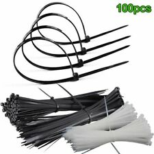 100Pcs Cable Ties ABS Zip Tie Wraps Strong Cord Winder Fastening Strap Wire Tool