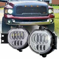 2pcs Front Bumper LED Fog Light Lamp Fit For Dodge Ram 1500 2500 3500 2002-2008