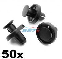 50x 8mm Subaru Wheel Arch Lining, Inner Wing, Splashguard Plastic Trim Clips