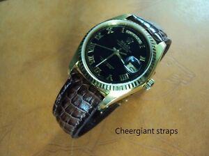 Rolex18038 crocodile strap watch band Made In Taiwan Cheergiant straps 勞力士鱷魚手工錶帶