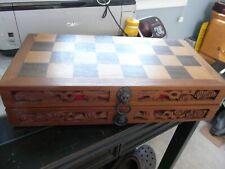 Hand Carved Wood Box Chess Set Korea- Contemporary Maker