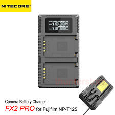 NITECORE FX2 PRO Dual USB Digital Charger for Fujifilm NP-T125 Camera Batteries