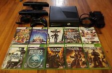 Microsoft Xbox 360 S Console Bundle 250GB Model 1439 + Games + Kinect USED Works