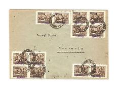 Polen Briefmarken Brief von 1951 Groszy Aufdruck Aufbau Warschau Mi 659 T 2