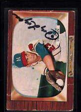 1955 BOWMAN #180 JOHNNY LOGAN AUTHENTIC ON CARD AUTOGRAPH SIGNATURE AU7230