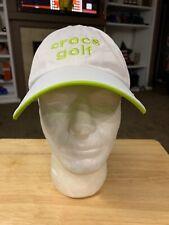 Crocs Golf Shoes White Lite Weight Runners Joggers Baseball Hat