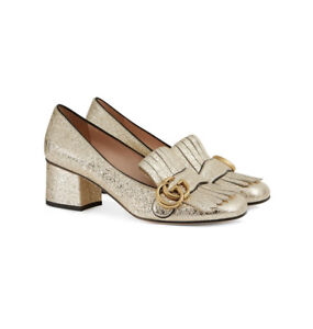 Gucci Shoes - Marmont Gold Size 40