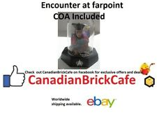 star Trek Franklin mint Sculptures with glass domes Coa encounter at farpoint