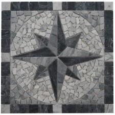 Marmor Rosone 60x60 cm Kompass Naturstein Windrose Mosaik Fliesen Einleger 071