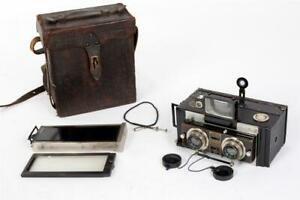 """Vintage ~ c1920 ~ """"Jeanneret"""" """"Monobloc"""" Stereo-Panoramic Camera with Magazines"""