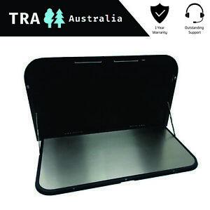 BLACK Caravan Picnic Table 12v LED & USB port 650mm x 445mm RV PARTS Motor Home