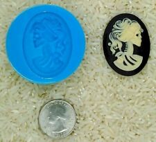 Gothic Zombie Skull Food Safe Silicone Cameo Mold for candy soap clay resin wax