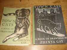 Town Cats - A Book of Drawings,BY ZHENYA GAY,1933 FIRST EDITION HARDBACK