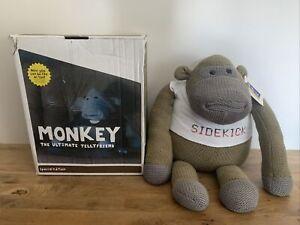 "Large PG Tips Tea ITV Digital SIDEKICK Knitted Chimp Monkey Soft Beanie Toy 20"""