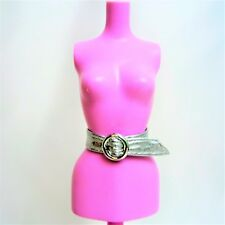 Barbie ceinture modèle de base Muse en cuir synthétique Argent Boucle Ceinture De Pack NO DOLL