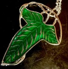 Pin - Brooch Pendant LEAF New Necklace + Chain LOTR Charm Elvin