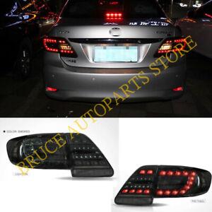 Smoked Black LED Tail Lights Rear Brake Lamps Kit For Toyota Corolla 2011-2013