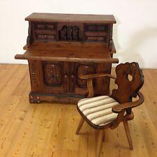 Voglauer Anno 1700 Braun Sekretär mit Stuhl Schreibtisch Handbemalt Landhaus