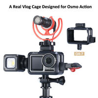 Vlog Case 2 Cold Shoe Mount for Microphone LED Video Light for DJI OSMO Action