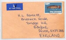 BQ54 1975 The Gambia Banjul Air Mail Cover Devon Great Britain PTS