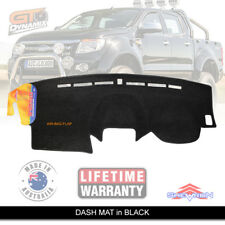 DASH MAT FORD RANGER PX T6 10/2011-5/2015 Wildtrack XLT XL XLS in BLACK DM1244