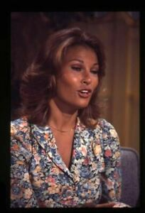 Raquel Welch Vintage Candid on TV show Original 35mm Transparency