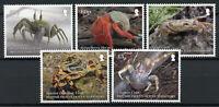 BIOT Crabs Stamps 2020 MNH Crustaceans Ghost Land Hermit Crab Fauna 5v Set