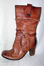 ❤️ Sexy Boots Distressed Brown Leather Calf Women's 8.5