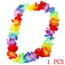 Hawaiian Flower Leis Garland Necklace Fancy Dress Party Hawaii Beach Decor 1Pc