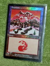 Mtg Mountain #344 FOIL Odyssey Magic the Gathering x1 Basic Land Franz Vohwinkel
