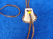 Medicine Bag  Native  Deerskin  Leather Necklace Pouch  Mountain Man  #25