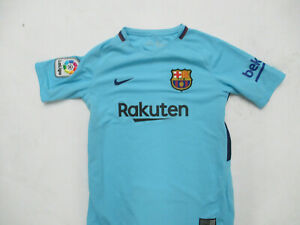 NIKE FC BARCELONA MEDIUM YOUTH WOMEN'S SEWN DRI-FIT HOME JERSEY PRE OWNED