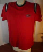Tommy Jeans Spellout Men's Med T Shirt Ribbed Red Short Sleeve Hilfiger Vintage