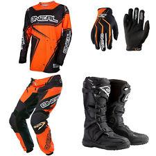 2017 ONeal Element Orange Motocross MX Dirtbike Jersey Pants Gloves Boots Combo