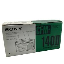 NOS Vintage Sony Portable Radio Cassette Recorder CFM-140II - Black
