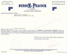 UNITED KINGDOM 1981, NURDIN & PEACOCK Ltd. - The Cash & Carry Wholesalers, Zert.