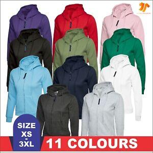 UNEEK Ladies Full Zip Classic Hooded Sweatshirt Womens Casual Pullover Hoodie
