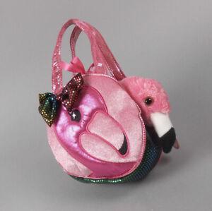 Aurora Fancy Pals Pet Carrier Fabulous Flamingo Plush Animal Toy #32604 NWT