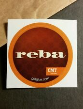 "REBA MCINTYRE SHOW NAME TITLE RED CMT SMALL 1.5"" TV GETGLUE GET GLUE STICKER"