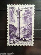 ANDORRE FRANCAISE, 1955 timbre 148 CROIX GOTHIQUE, oblitéré, VF USED STAMP
