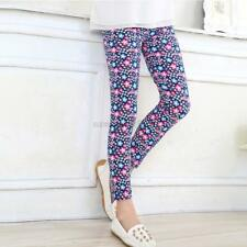 Cute Girls' Colorful Skinny Leggings Casual Kid's Stretchy Pants Trousers 2-14Y