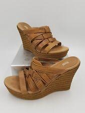 UGG Australia  Hedy Brown Espadrilles Wedges Sandals Heels Wmn's Sz 9