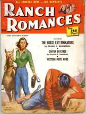 12 Ranch Romances Magazines 1950s Pulp Western Trail Wild Angry Blizzard Death