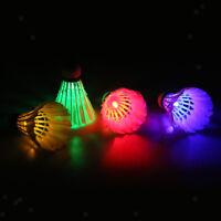 perfk 4 St/ück Bunte LED Badminton Ball Set Leuchtende Federb/älle