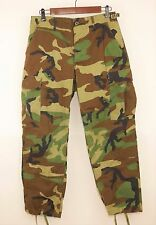 US Military ARMY ACU WOODLAND Camo Camouflage Combat Pants BDU - X SMALL SHORT